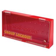 Brady GLOBOX Acrylic Wall Lock Box - Large - Red-1