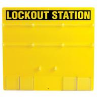 Brady 50992 36-lock Board (board Only) - Black On Yellow-1