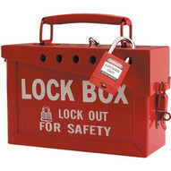 Brady 51171 Extra-large Metal Lock Box - Red-1