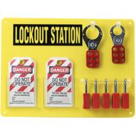 Brady 51181 5-lock Board (filled W Safety Padlocks) - Black On Yellow-1