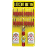 Brady 51189 20-lock Board (filled With Safety Padlocks) - Black On Yellow-1