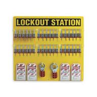 Brady 51196 36-lock Board (filled With 3 4 Steel Padlocks) - Black On Yellow-1