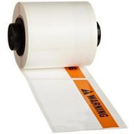 Brady PTL-37-483-WARNING Tls 2200 & Tls Pc Link Arc Flash Labels With Warning Header - Orange black On White (100 per Roll)-1