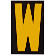 Brady 5905-W Reflective Numbers & Letters - 1 1 2 H X 1 W - Yellow On Black (25 per Package)-1