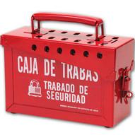 Brady 65040 Portable Metal Lock Box - Spanish - Red-1