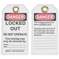 Brady 65526 Lockout Tags - 5 1 2h X 3w - Black red On White (25 per PK)-1