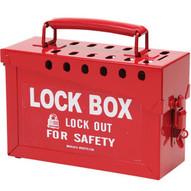 Brady 65699 Portable Metal Lock Box - Red - Red-1