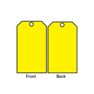 Brady 76197 Blank Accident Prevention Tags - 5 3 4 H X 3 W - Yellow (25 per PK)-1