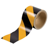 Brady 76312 Reflective Stripes Checks & Color Tape - 3 W X 5 Yds - Black And Yellow-1