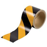 Brady 76312 Reflective Stripes Checks & Color Tape - 3 W X 5 Yds - Black And Yellow-1