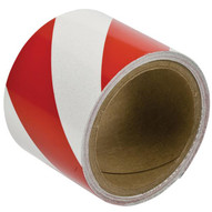 Brady 76313 Reflective Stripes Checks & Color Tape - 3 W X 5 Yds - Red And White-1