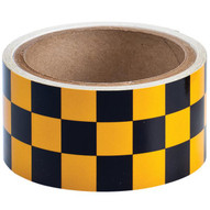 Brady 76321 Reflective Stripes Checks & Color Tape - 2 W X 5 Yds. - Black And Yellow-1