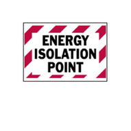 Brady 86246 Energy Isolation Point Labels - 3 1 2 H X 5 W - Black red On White (5 per PK)-1