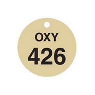 Brady 87497 Stamped Brass Valve Tags - 1 1 2 Diameter - Brass (25 per PK)-1