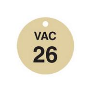 Brady 87501 Stamped Brass Valve Tags - 1 1 2 Diameter - Brass (25 per PK)-1