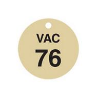 Brady 87503 Stamped Brass Valve Tags - 1 1 2 Diameter - Brass (25 per PK)-1