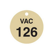 Brady 87505 Stamped Brass Valve Tags - 1 1 2 Diameter - Brass (25 per PK)-1