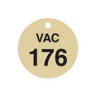 Brady 87507 Stamped Brass Valve Tags - 1 1 2 Diameter - Brass (25 per PK)-1