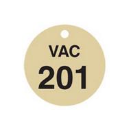 Brady 87508 Stamped Brass Valve Tags - 1 1 2 Diameter - Brass (25 per PK)-1