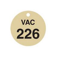 Brady 87509 Stamped Brass Valve Tags - 1 1 2 Diameter - Brass (25 per PK)-1