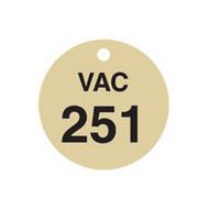 Brady 87510 Stamped Brass Valve Tags - 1 1 2 Diameter - Brass (25 per PK)-1