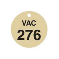 Brady 87511 Stamped Brass Valve Tags - 1 1 2 Diameter - Brass (25 per PK)-1