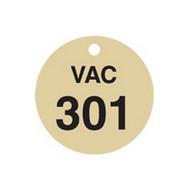 Brady 87512 Stamped Brass Valve Tags - 1 1 2 Diameter - Brass (25 per PK)-1