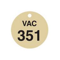 Brady 87514 Stamped Brass Valve Tags - 1 1 2 Diameter - Brass (25 per PK)-1