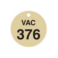 Brady 87515 Stamped Brass Valve Tags - 1 1 2 Diameter - Brass (25 per PK)-1