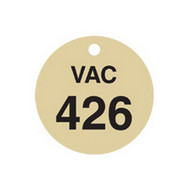 Brady 87517 Stamped Brass Valve Tags - 1 1 2 Diameter - Brass (25 per PK)-1