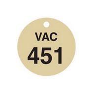Brady 87518 Stamped Brass Valve Tags - 1 1 2 Diameter - Brass (25 per PK)-1
