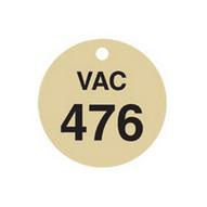 Brady 87519 Stamped Brass Valve Tags - 1 1 2 Diameter - Brass (25 per PK)-1