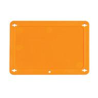 Brady 87695 Blank Plastic Vip Tags - 4 W X 2 1 2 H - Orange-1