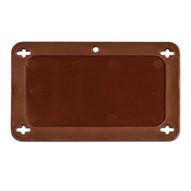 Brady 87710 Blank Plastic Vip Tags - 3 W X 1 1 2 H - Brown-1