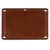 Brady 87711 Blank Plastic Vip Tags - 4 W X 2 1 2 H - Brown-1