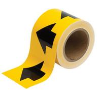 Brady 91287 Arrow Tape - 4 X 30 Yds - Black On Yellow-1