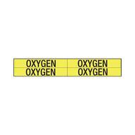 Brady 7209-4 Self-sticking Vinyl Pipe Marker - 1 1 8 H X 7 W - Black On Yellow-1