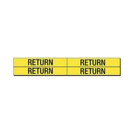Brady 7244-4 Self-sticking Vinyl Pipe Marker - 1 1 8 H X 7 W - Black On Yellow-1