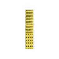 Brady 7014-3C Self-sticking Vinyl Pipe Marker - 2 1 4 H X 2 3 4 W - Black On Yellow-1
