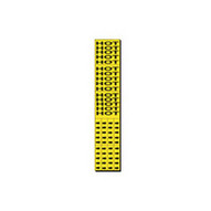 Brady 7144-3C Self-sticking Vinyl Pipe Marker - 2 1 4 H X 2 3 4 W - Black On Yellow-1