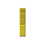 Brady 7157-3C Self-sticking Vinyl Pipe Marker - 2 1 4 H X 2 3 4 W - Black On Yellow-1