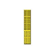 Brady 7244-3C Self-sticking Vinyl Pipe Marker - 2 1 4 H X 2 3 4 W - Black On Yellow-1