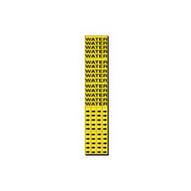 Brady 7303-3C Self-sticking Vinyl Pipe Marker - 2 1 4 H X 2 3 4 W - Black On Yellow-1