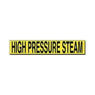 Brady 7115-1HV Self-sticking Vinyl Pipe Marker - 4 H X 24 W - Black On Yellow-1