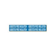 Brady 7018-4 Self-sticking Vinyl Pipe Marker - 1 1 8 H X 7 W - White On Blue-1