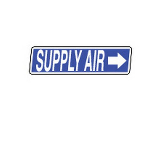 Brady 98489 Duct Markers - 2 1 4 H X 13 1 4w - White On Blue-1