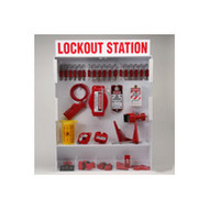 Brady 99696 Extra-large Enclosed Lockout Station With Components & 18 Safety Padlocks 25 Tags - Red On White-1