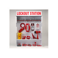 Brady 99700 Extra-large Lockout Station With Components & 18 Steel Padlocks 25 Tags - Red On White-1
