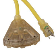 Bayco SL-747L 50' Triple-tap 123 Proextension Cord With Lighted-1