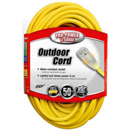 Coleman Cable 02588 123 50 Foot Vinyl Outdoor Extension Cord with Lighted End-2